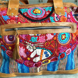 detail of embroidered guatemalan bag