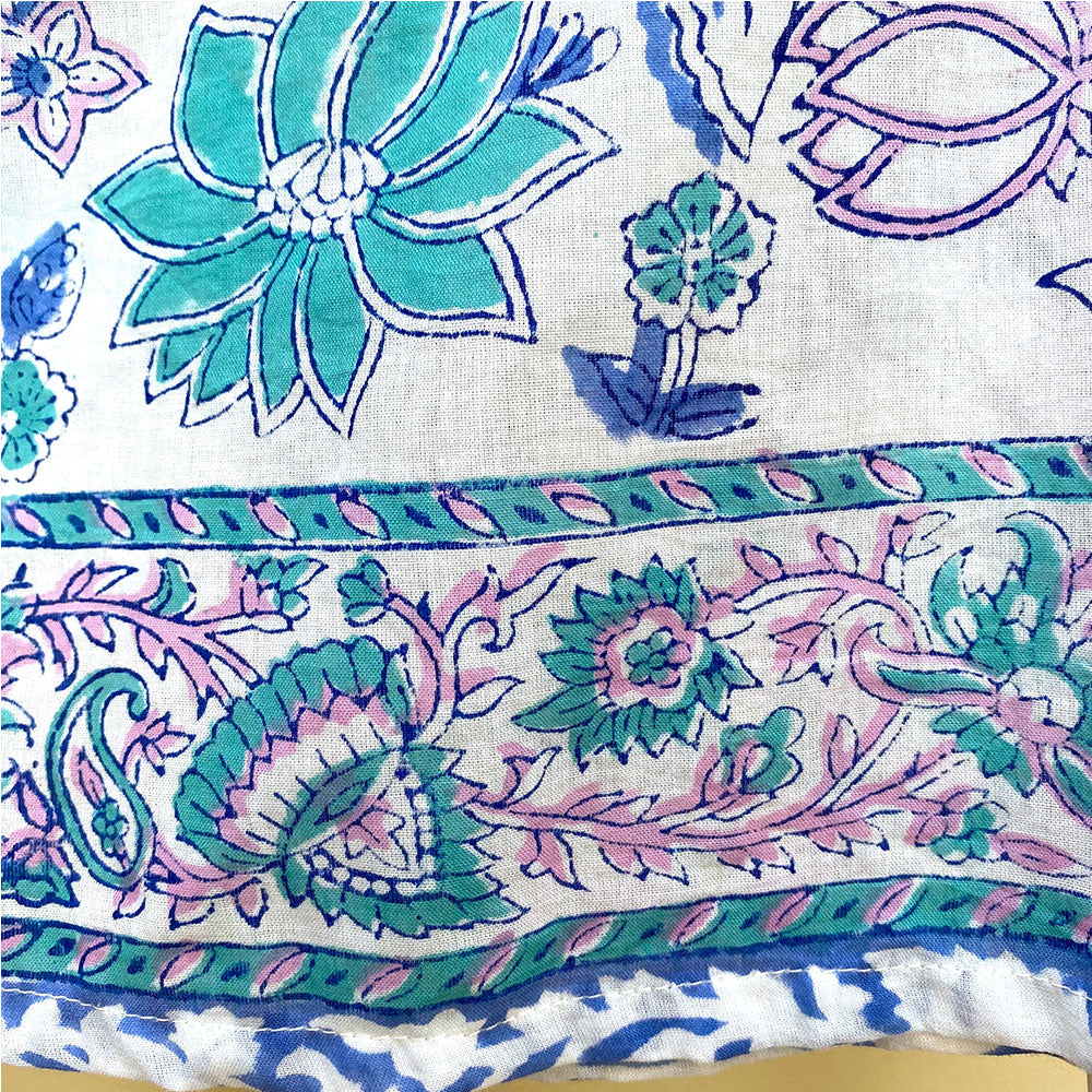 block printing detail on maxi skirt - The Fox and the Mermaid