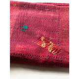 detail: red kantha quilt