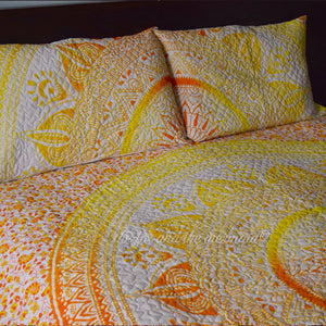 Yellow Ombre Mandala Quilt - The Fox and The Mermaid - 2