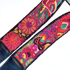 embroidery detail on bag strap - The Fox and the Mermaid