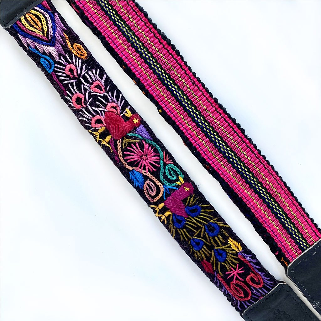 embroidered straps with pink stripes The Fox and the Mermaid