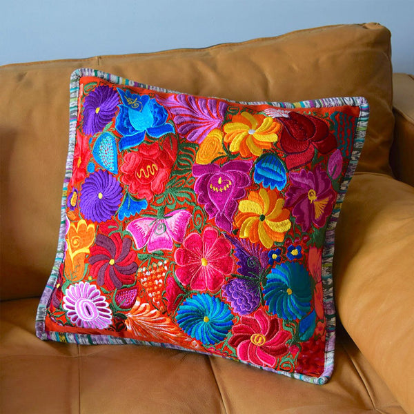 Mayan Huipil Throw Pillow The Fox and the Mermaid