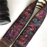 detail embroidered camera strap geometric The Fox and the Mermaid