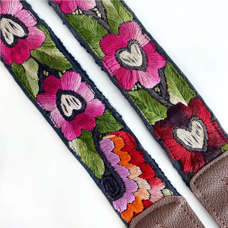Embroidered fake leather strap  - The Fox and the Mermaid