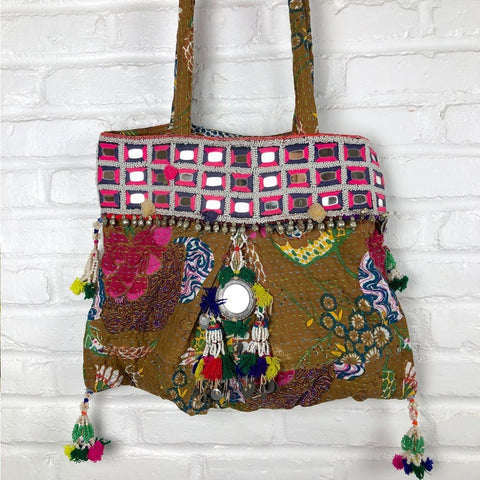 Embroidered Kantha Banjara Bag