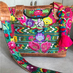 Guatemalan Purse with Birds and Flowers The Fox and the Mermaid