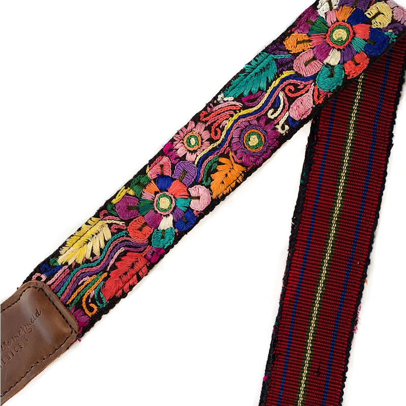 Leather Embroidered Strap