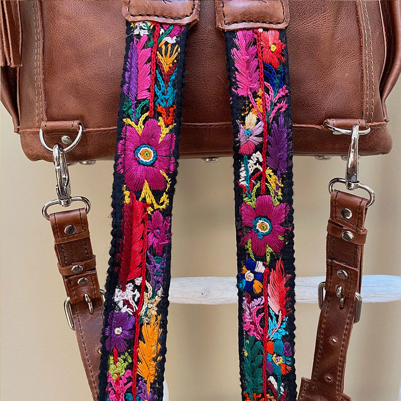 Embroidered Guatemalan Backpack straps - The Fox and the Mermaid