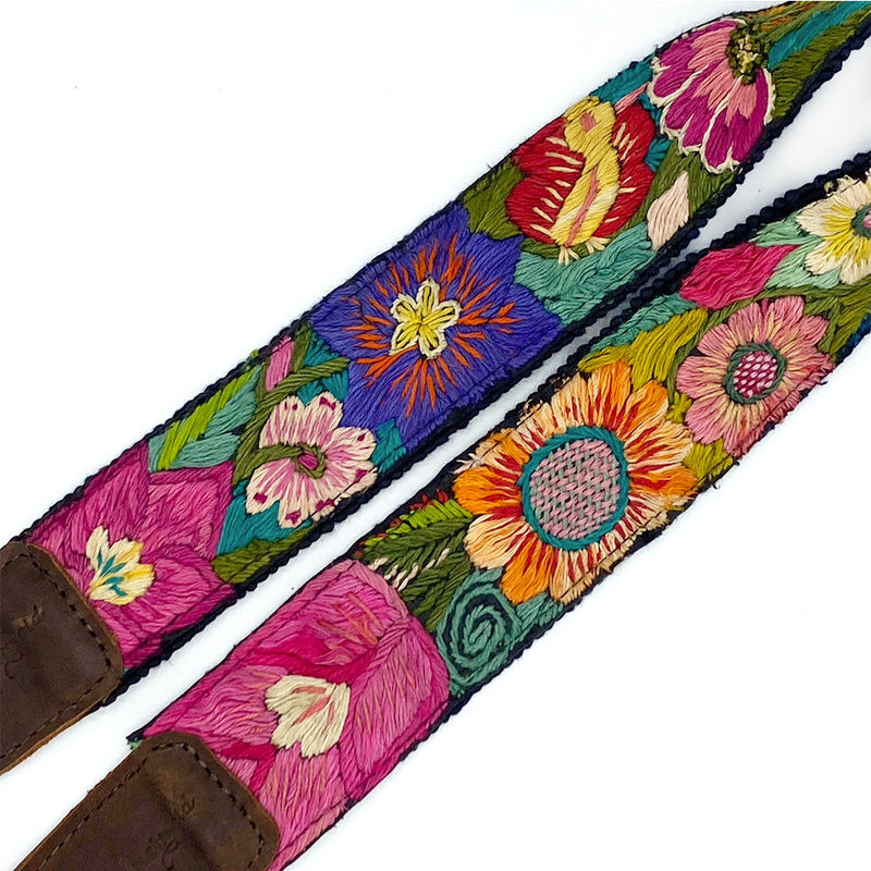 bag strap with birds and sunflowers - The Fox and the Mermaid
