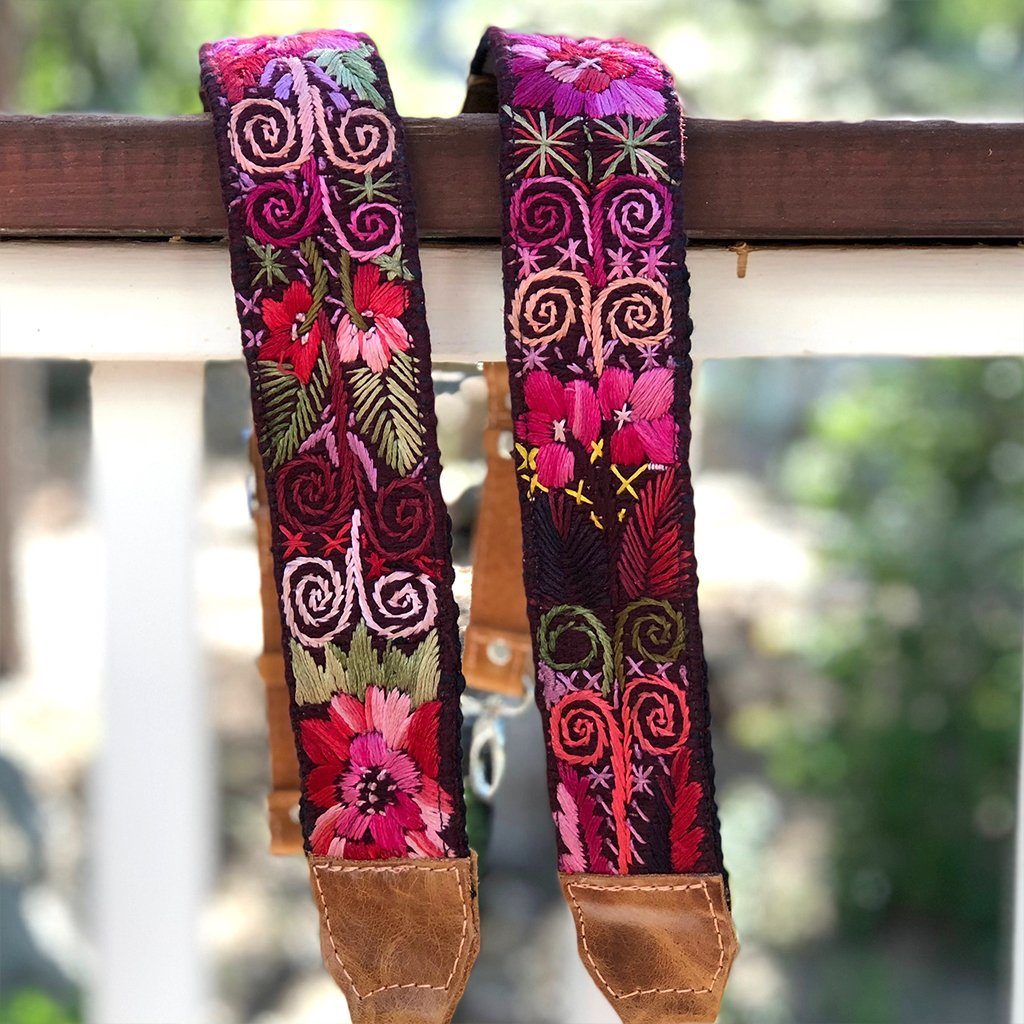 Backpack Straps Embroidered in Guatemala The Fox and the Mermaid
