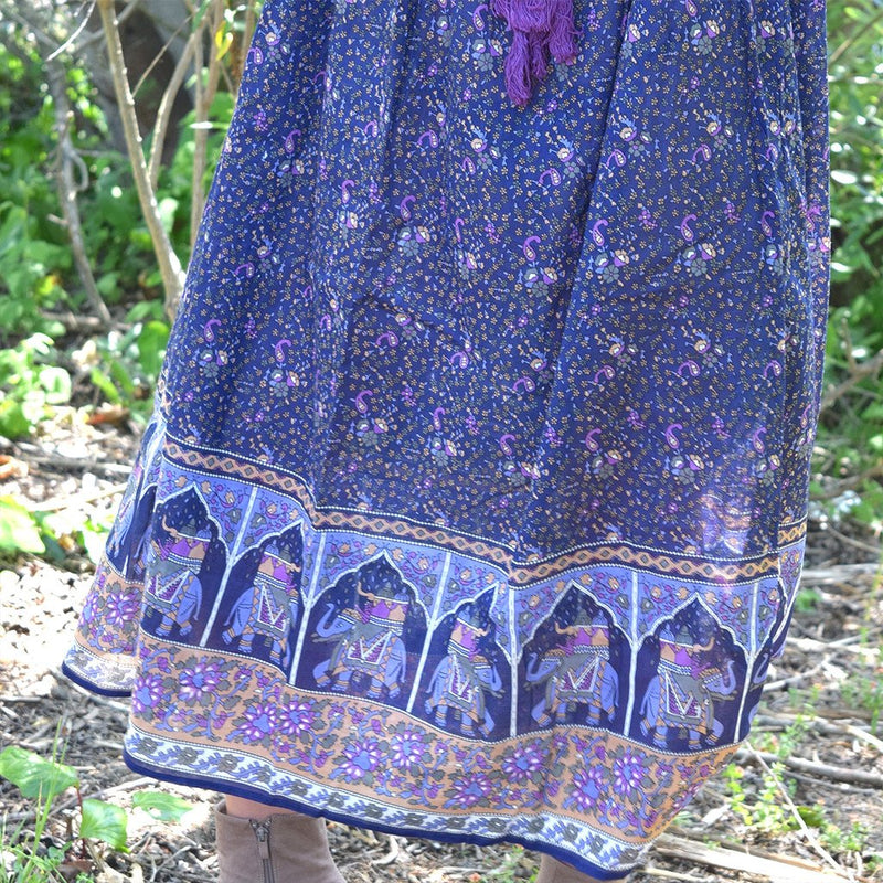 detail indian cotton dress the-fox-and-the-mermaid