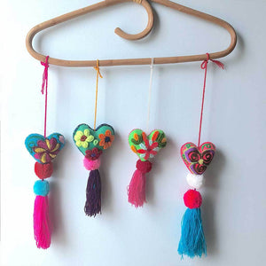 Mexican Embroidered Pom-Poms