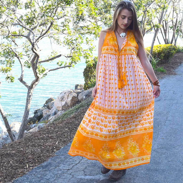 Yellow Bohemian Cotton Dress The Fox and the Mermaid