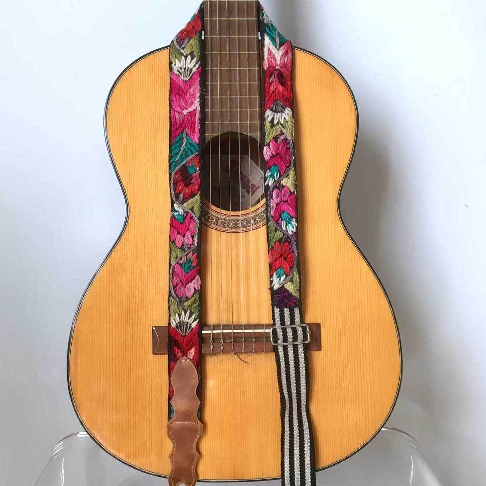 Boho Hippie Guitar Strap The Fox and the Mermaid