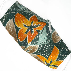handmade indian kantha mask - The Fox and the Mermaid