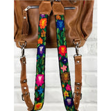 Rainbow colored Guatemala backpack straps detachable - The Fox and the Mermaid