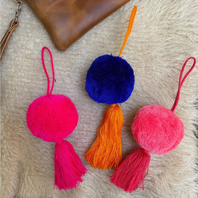 Colorful Huipil Bag Tassels - The Fox and the Mermaid
