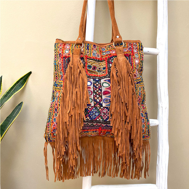 suede fringe banjara  bag - The Fox and the Mermaid