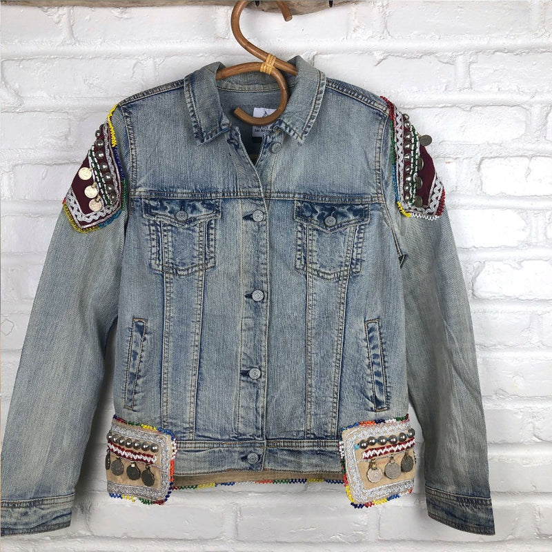 Embellished Denim Banjara Jacket (M) - The Fox and The Mermaid