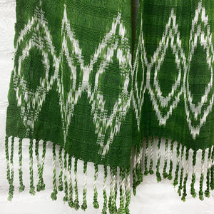 green scarf with fringe - The Fox and the Mermaid
