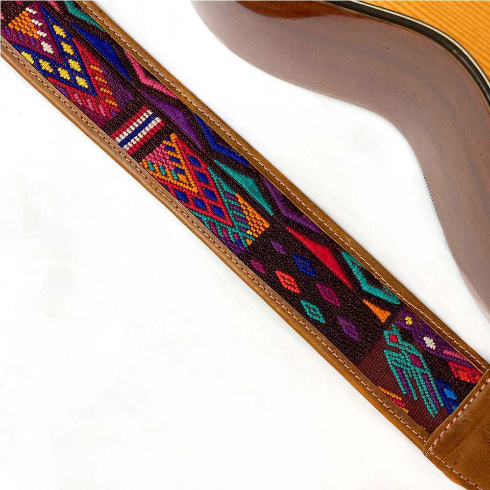 Geolmetric style  Guitar Strap - The Fox and the Mermaid