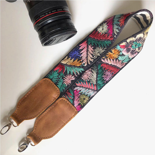 Geometric camera strap The Fox and the Mermaid