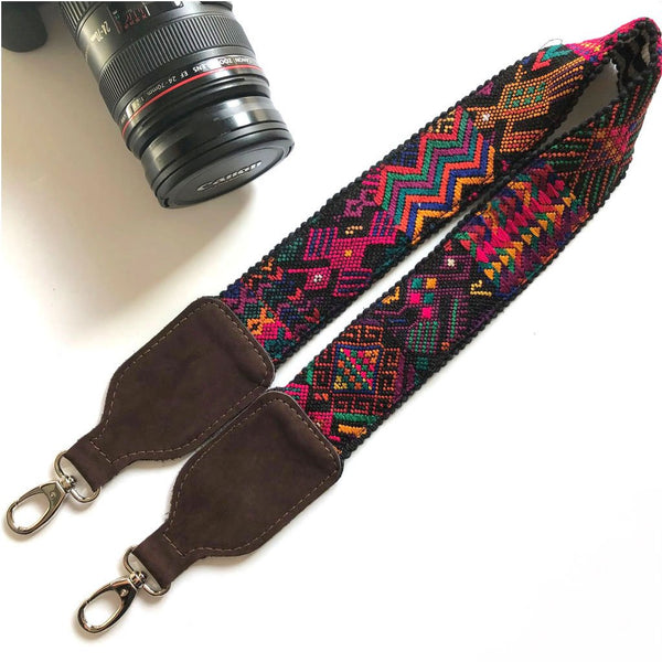 geometric Suede camera strap  The Fox and the Mermaid