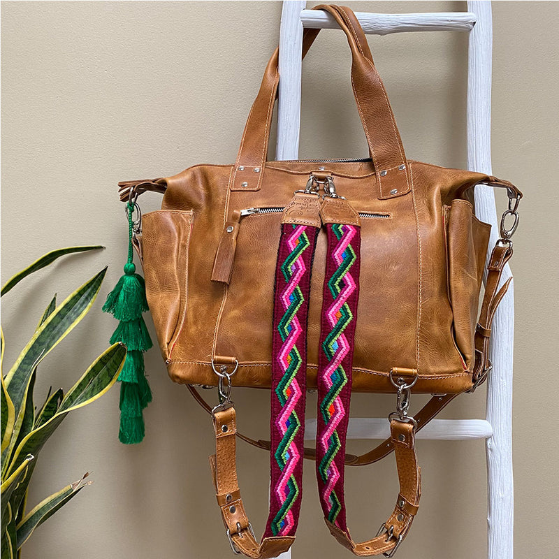 Geometric Backpack straps from guatemala - The Fox and the Mermaid