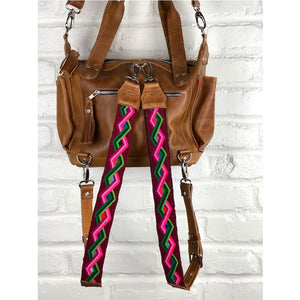 Geometric pattern backpack straps from guatemala - The Fox and the Mermaid