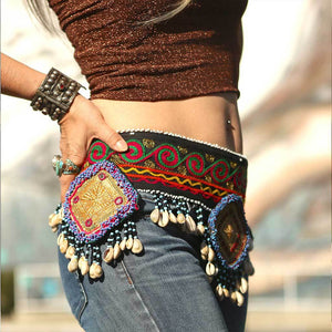 Tribal Beaded Belt The Fox and the Mermaid