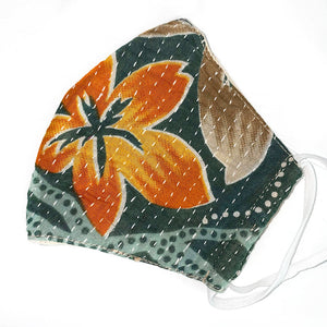 thick quilted kantha face mask - The Fox and the Mermaid