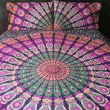 PInk and Green Mandala Duvet Set The Fox and the Mermaid