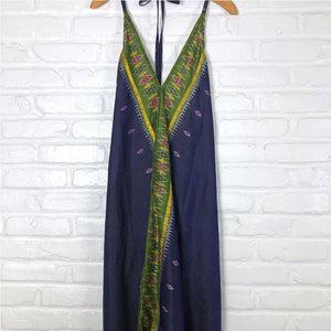 indian silk dress in purple and green The Fox and the Mermaid