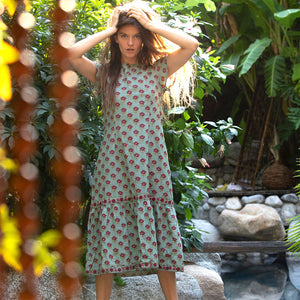 indian cotton maxi dress - The Fox and the Mermaid