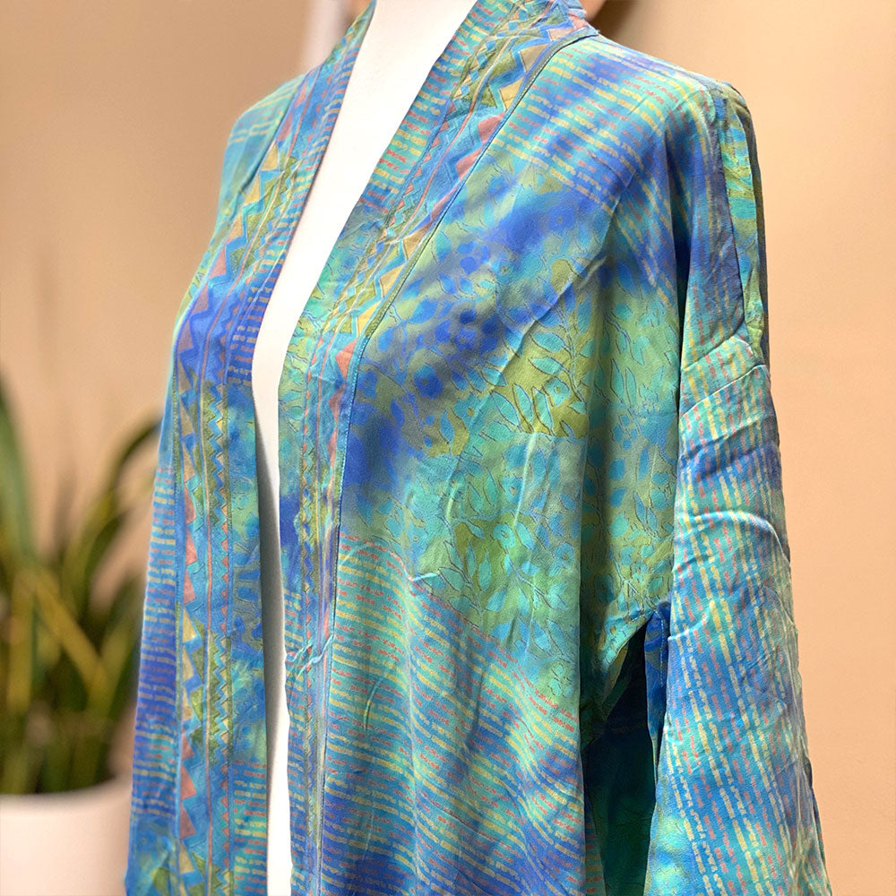 vintage silk tie-dyed robe and kimono - The Fox and the Mermaid