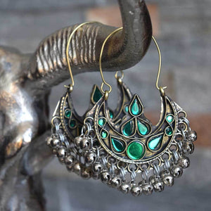 Chandelier Kuchi Tribe Earrings with Bells (Various Colors) - The Fox and The Mermaid