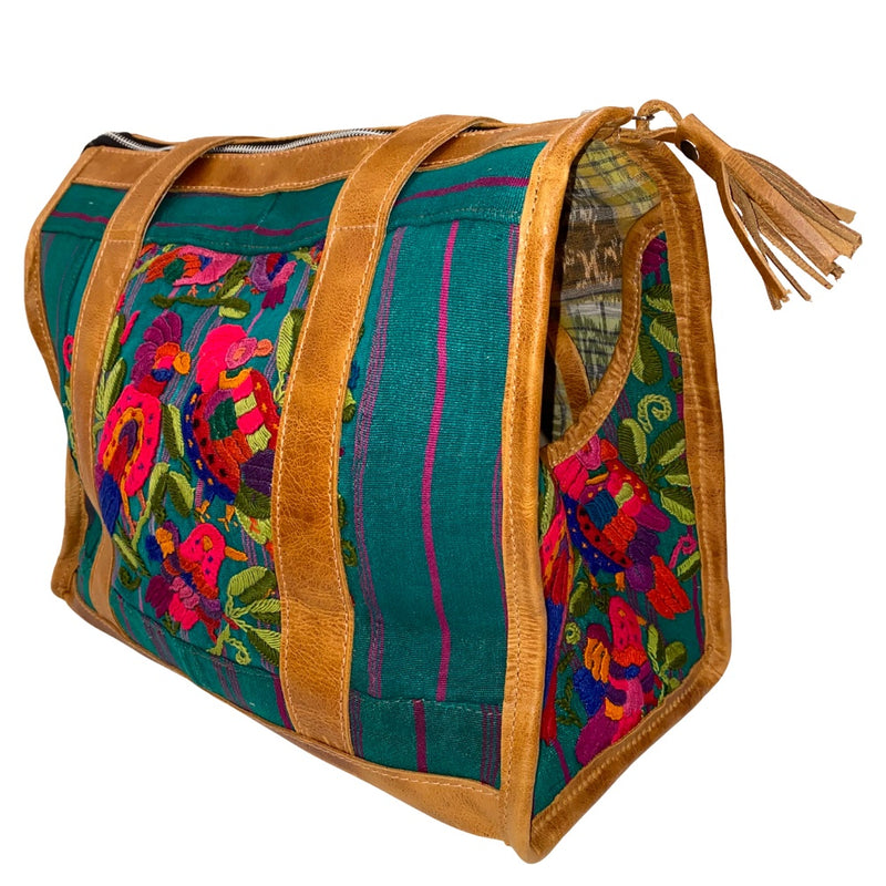 embroidered guatemalan dog bag - The Fox and the Mermaid