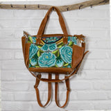 Green Floral Huipil Convertbile bag The Fox and the Mermaid
