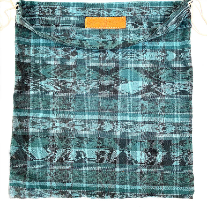green ikat dustbag  - The Fox and the Mermaid