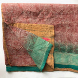 vintage kantha quilt green The Fox and the Mermaid