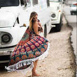 The Gypsy Wanderer Mandala Roundie with Fringe or Pom-Poms - The Fox and The Mermaid - 2