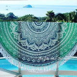 Oceana Ombre Mandala Roundie with Fringe - The Fox and The Mermaid - 1