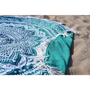 Mandala Tapestry Beach Towel The Fox and the Mermaid
