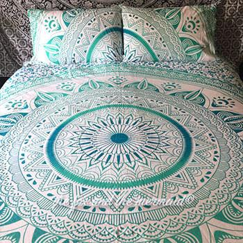 Emerald Ombre Duvet Cover and Pillowcases - The Fox and The Mermaid