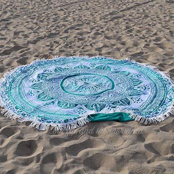 Emerald Ombre Round Towel archive - The Fox and The Mermaid