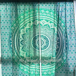 Oceana Ombre Mandala Tapestry Curtains - The Fox and The Mermaid - 1