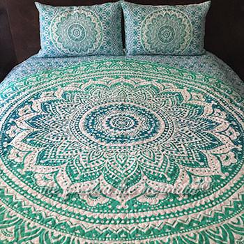 Oceana Ombre Mandala Quilt - The Fox and The Mermaid - 1