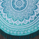 Oceana Ombre Mandala Roundie with Black or Green Fringe - The Fox and The Mermaid - 2