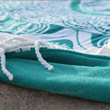 Emerald Ombre Round Beach Towel - The Fox and The Mermaid - 2